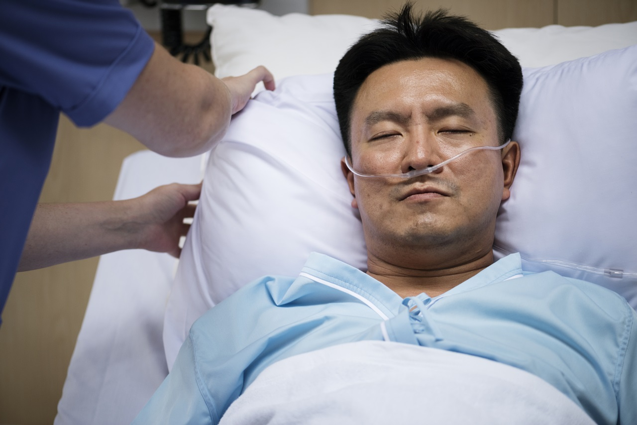 A man in a coma
