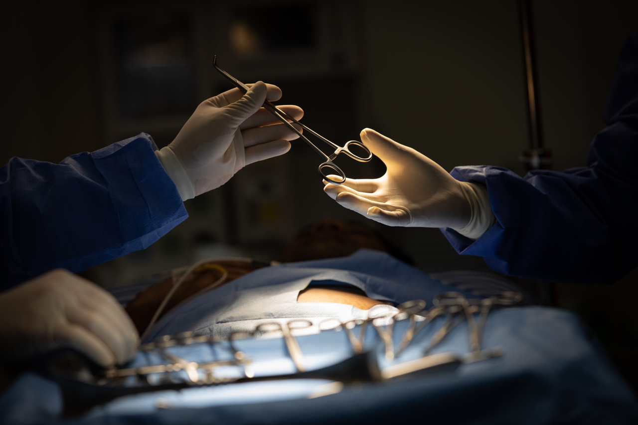 Doctors in the operating room during a surgery