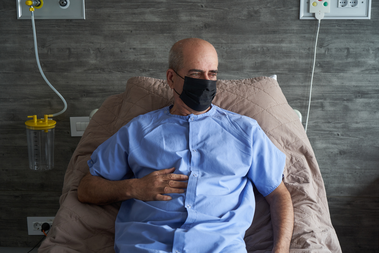 A man recovering while healing from COVID-19