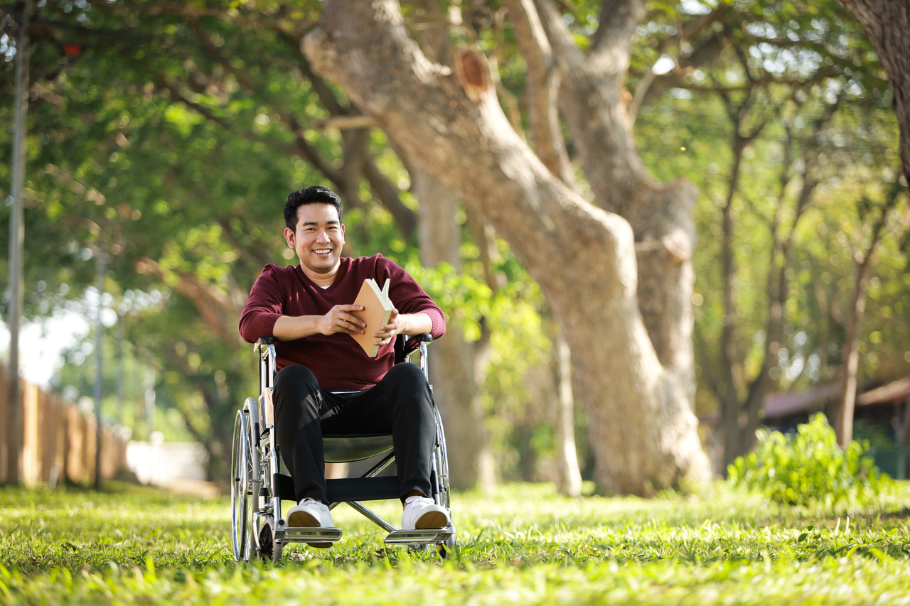 A young man recovering after a stroke