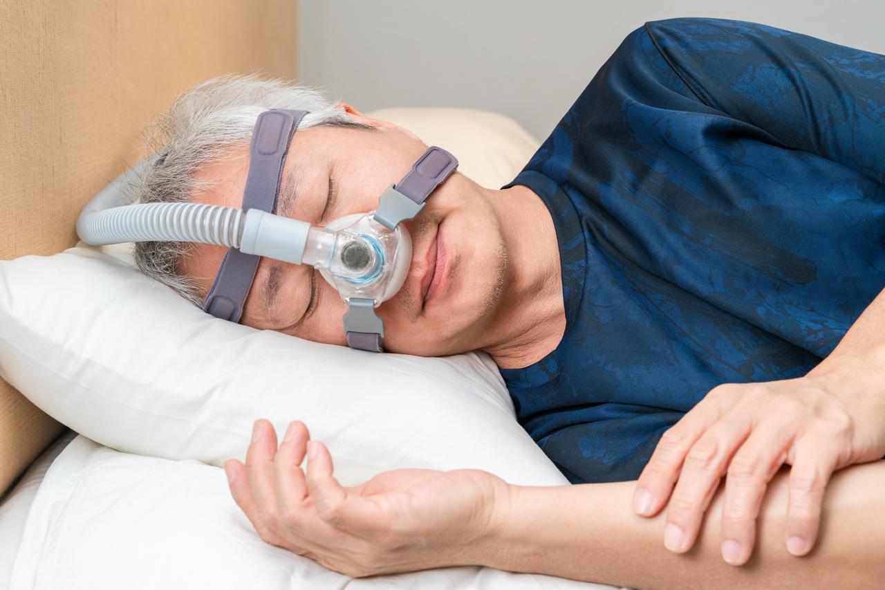A man with sleep apnea