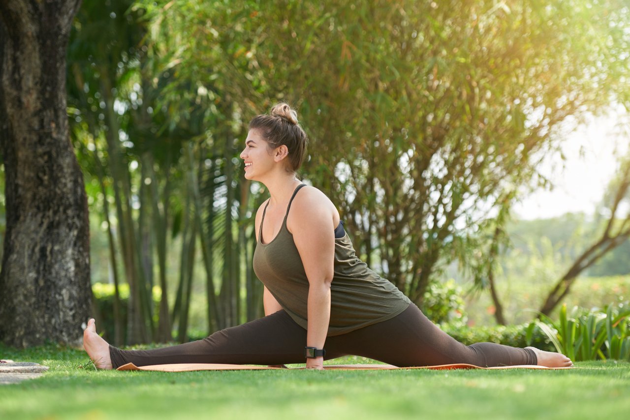 A woman exercising after obesity surgery