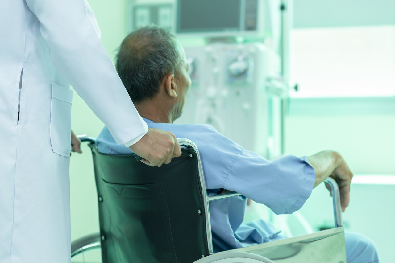 A happy patient after hemodialysis