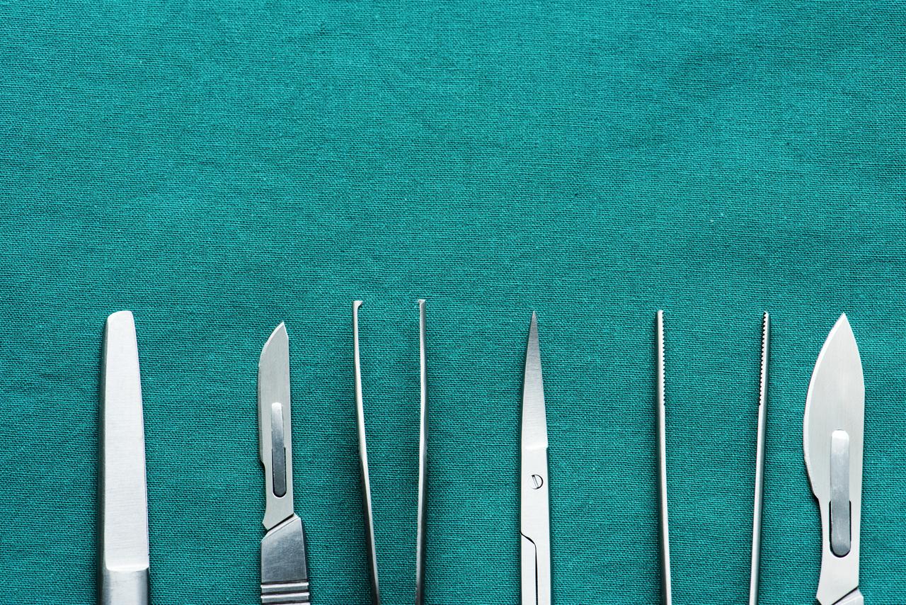 Closeup of medical equipment